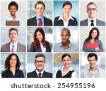 group of business people face... | Shutterstock . vector #254955196