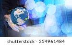 double exposure of businessman... | Shutterstock . vector #254961484