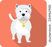vector dog west highland white... | Shutterstock .eps vector #254962900