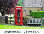 red telephone box  english... | Shutterstock . vector #254965573