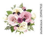 Vector Bouquet Of Pink And...
