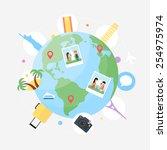 traveling concept vector... | Shutterstock .eps vector #254975974