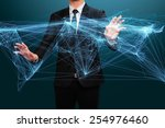 businessman working with... | Shutterstock . vector #254976460