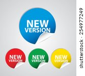 new version colorful sign  icon ... | Shutterstock . vector #254977249