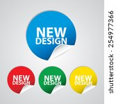 new design colorful sign  icon  ... | Shutterstock . vector #254977366