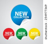 new collection colorful sign ... | Shutterstock . vector #254977369