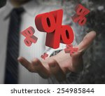 business man hand showing  red... | Shutterstock . vector #254985844