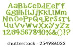 3d green alphabets big and... | Shutterstock . vector #254986033