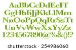 3d green alphabets big and... | Shutterstock . vector #254986060