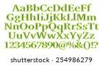 3d green alphabets big and... | Shutterstock . vector #254986279