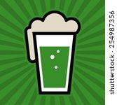 green beer pint glass vector... | Shutterstock .eps vector #254987356