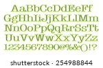 3d rendering of green alphabet. | Shutterstock . vector #254988844