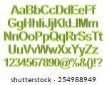 3d rendering of green alphabet. | Shutterstock . vector #254988949