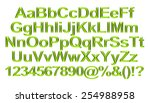 3d rendering of green alphabet. | Shutterstock . vector #254988958