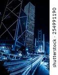 hong kong city motion blurred... | Shutterstock . vector #254991190
