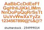 3d orange alphabet with numbers ... | Shutterstock . vector #254999014