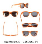 Orange Sun Glasses Isolated...