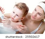the small beautiful boy of 2... | Shutterstock . vector #25502617