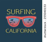 surf illustration typography... | Shutterstock .eps vector #255040153