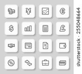 finance web icons set | Shutterstock .eps vector #255048664