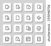 document web icons set | Shutterstock .eps vector #255048706