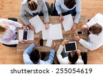 business  people and team work... | Shutterstock . vector #255054619