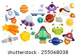space vector set   no background | Shutterstock .eps vector #255068038