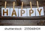 message happy written on a... | Shutterstock . vector #255068434