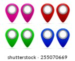 mark on the map with a pattern... | Shutterstock .eps vector #255070669