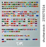 flags of countries divided by... | Shutterstock .eps vector #255075316