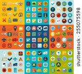 set of navigation icons | Shutterstock . vector #255075598
