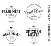set of butcher shop labels and... | Shutterstock .eps vector #255078919