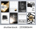 set of design templates for... | Shutterstock .eps vector #255080644