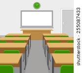 classroom | Shutterstock .eps vector #255087433