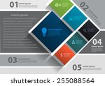 vector layout template design ... | Shutterstock .eps vector #255088564