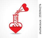 chemistry of love concept stock ...   Shutterstock .eps vector #255094276