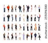 isolated over white workforce... | Shutterstock . vector #255096580