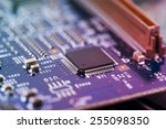 high tech circuit board | Shutterstock . vector #255098350