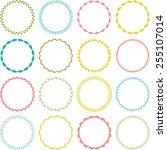 circle frames | Shutterstock .eps vector #255107014