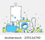 vector illustration of large... | Shutterstock .eps vector #255116740