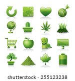 ecology icons | Shutterstock .eps vector #255123238