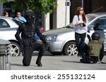 club of stuntmen shows to... | Shutterstock . vector #255132124