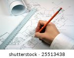 architect working with... | Shutterstock . vector #25513438