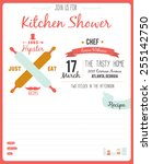 recipe card in hipster style.... | Shutterstock .eps vector #255142750