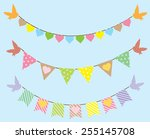 Vector Bunting With Birds And...