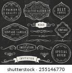 vector chalkboard design... | Shutterstock .eps vector #255146770