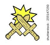 retro comic book style cartoon... | Shutterstock .eps vector #255147250