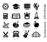 collection of icons...   Shutterstock .eps vector #255149188