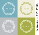 Vector Floral Wreaths And...