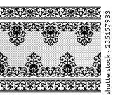 lace black seamless pattern... | Shutterstock .eps vector #255157933